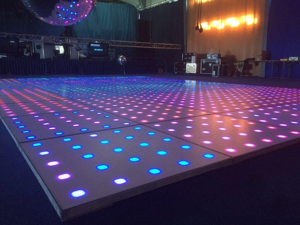 Verlichte LED dansvloer